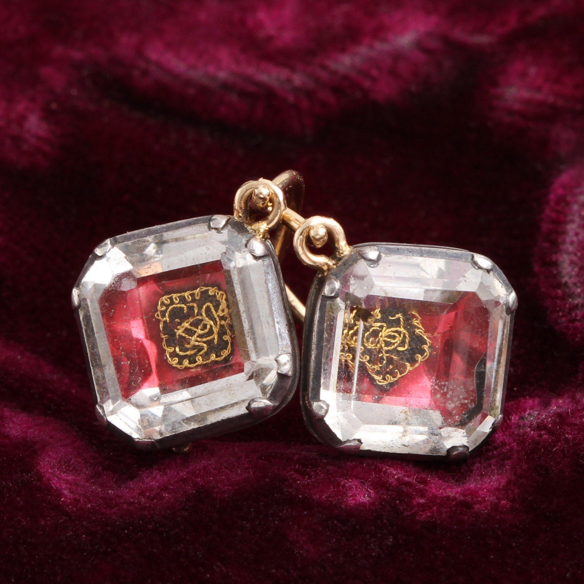 Pink Stuart Crystal earrings detail