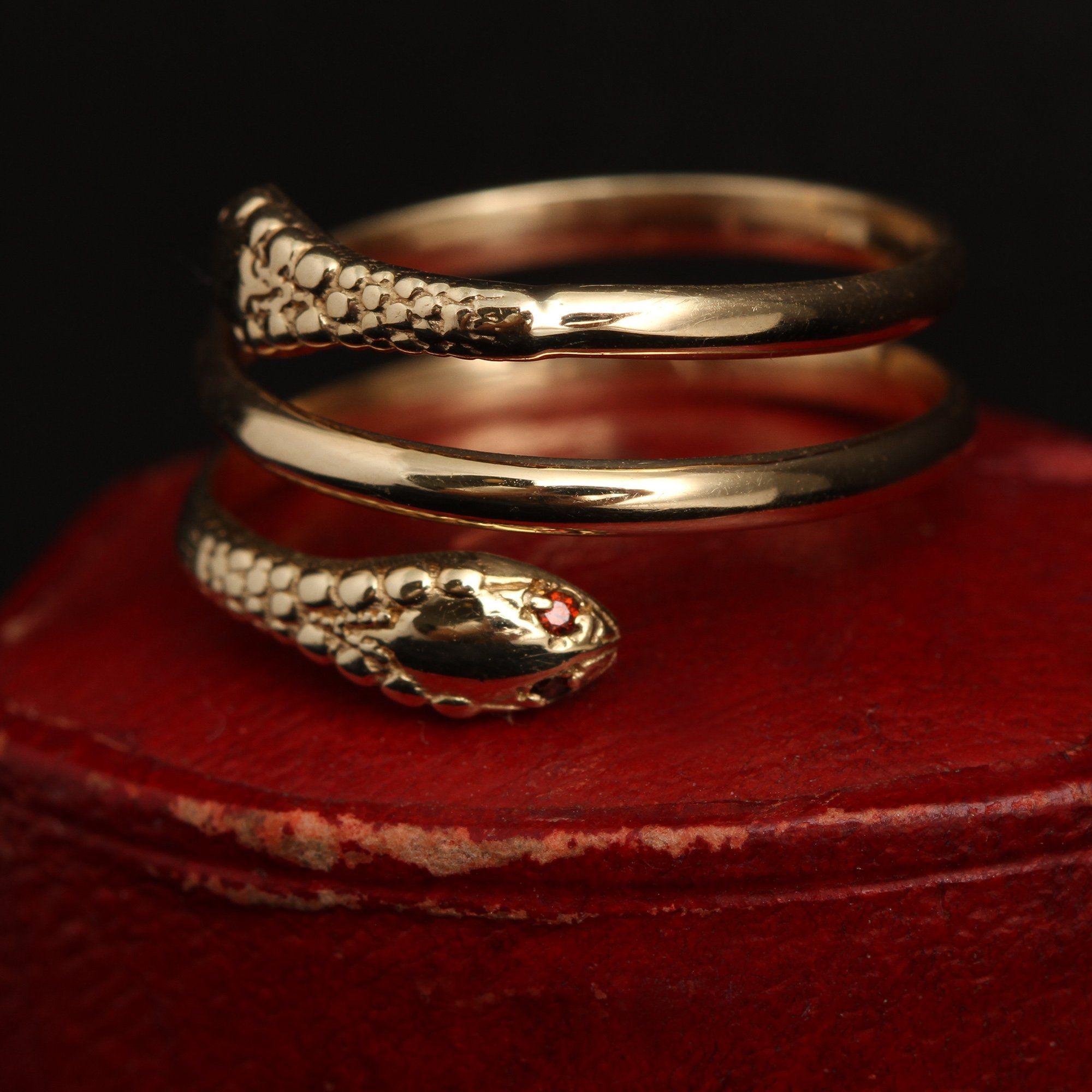 Two-Headed Snake Ring