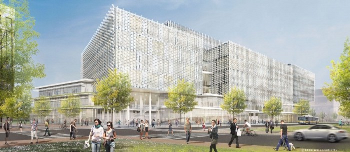 Artist's rendition of the expanded SEAS campus in Allston, MA.