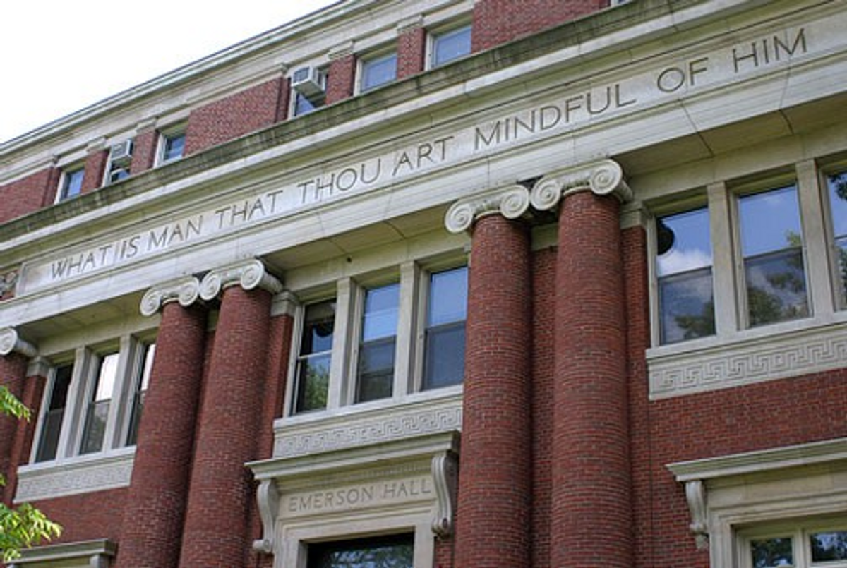 Emerson Hall, home of Harvard's Philosophy Department.