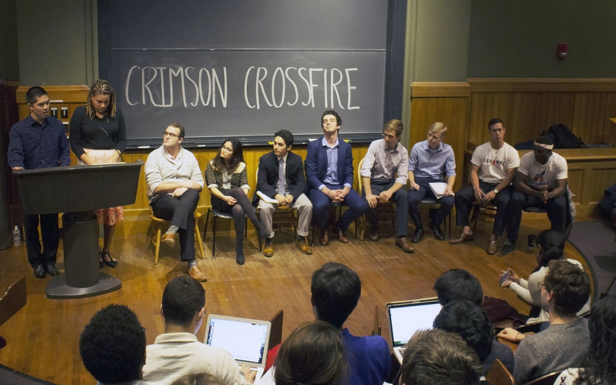 A debate from the 2016 Undergraduate Council elections. (Photo credit: Aridenne A. Dews for the Harvard Crimson)