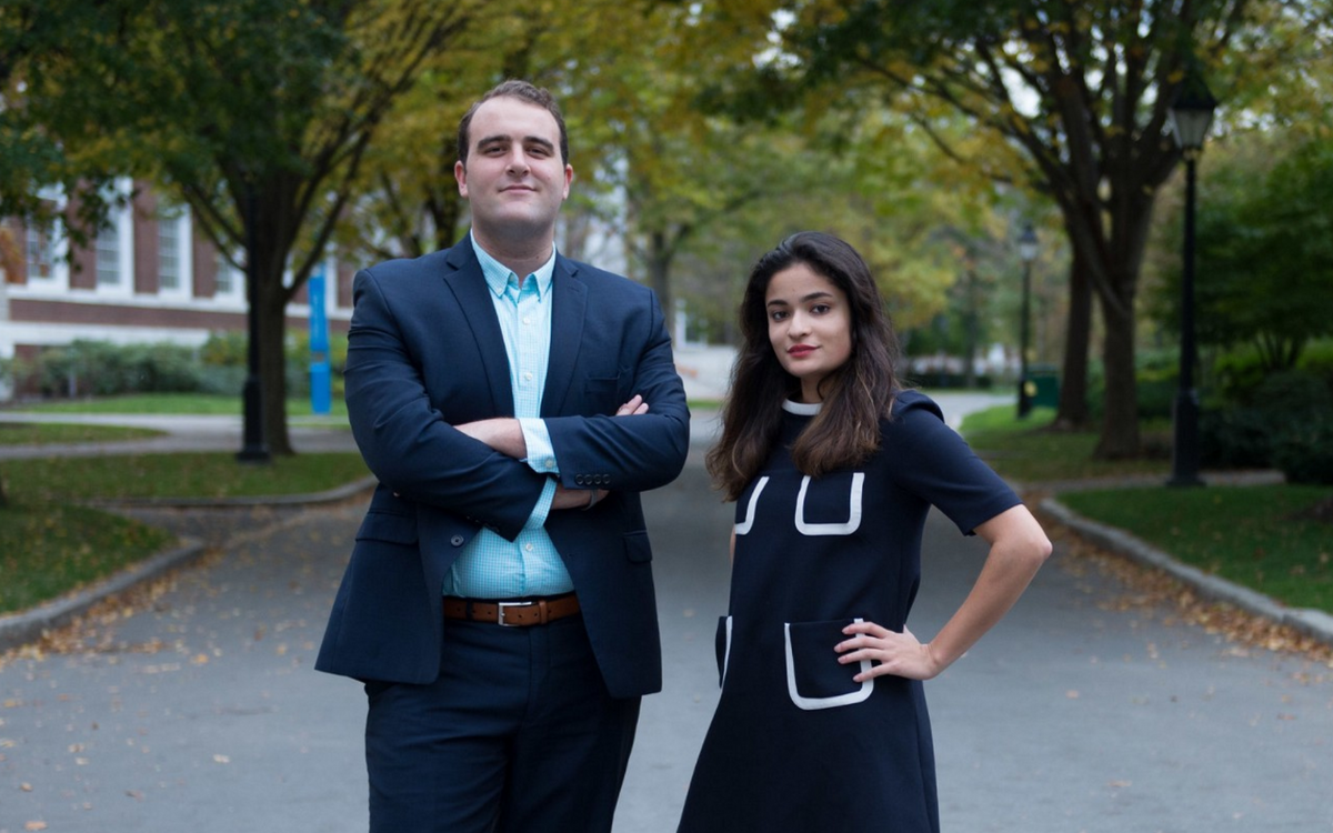 Yasmin Sachee (right) and Cameron Khansarinia won last year's UC Presidential election, in line with HODP's predictions.