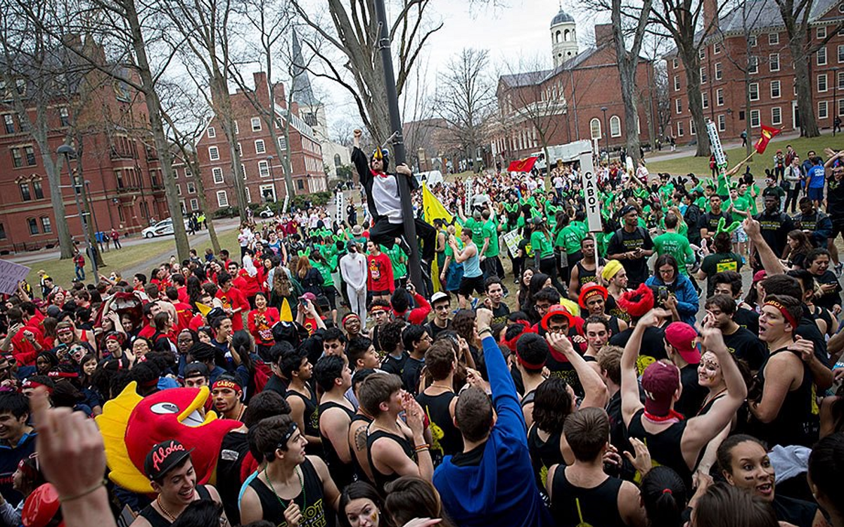 Housing Day at Harvard (image obtained from The Harvard Gazette)