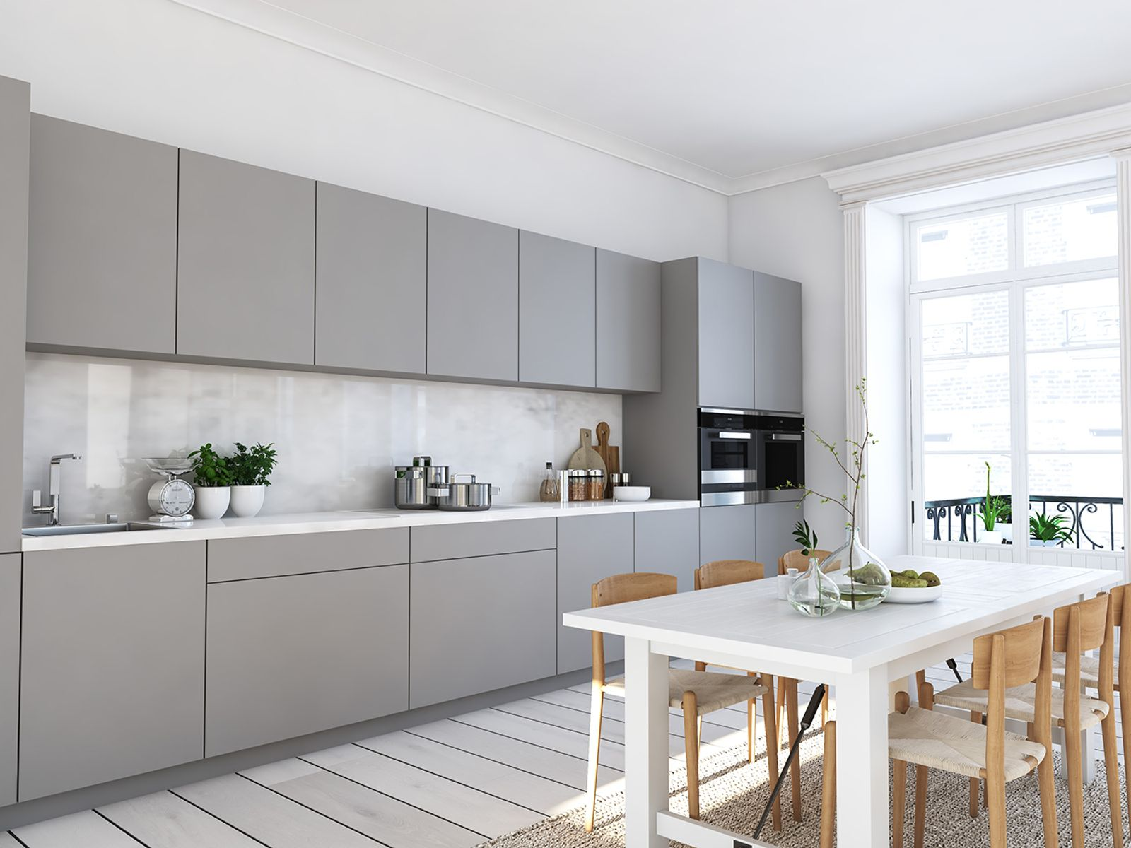 Kitchen renovation with architectural film