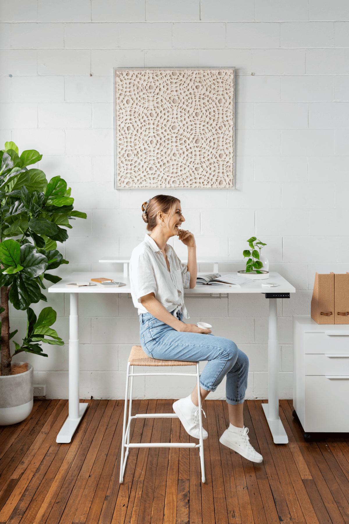 Person using Holistic Desk