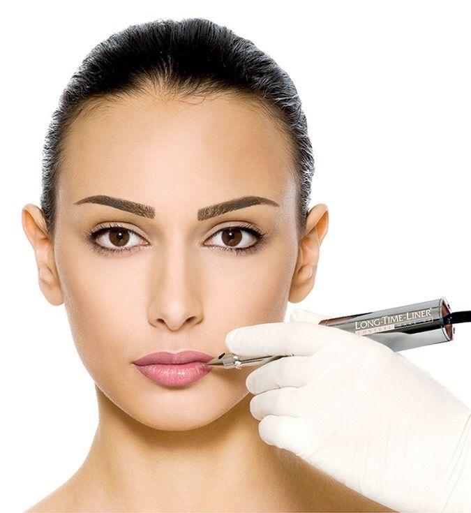 Permanent makeup procedure for face