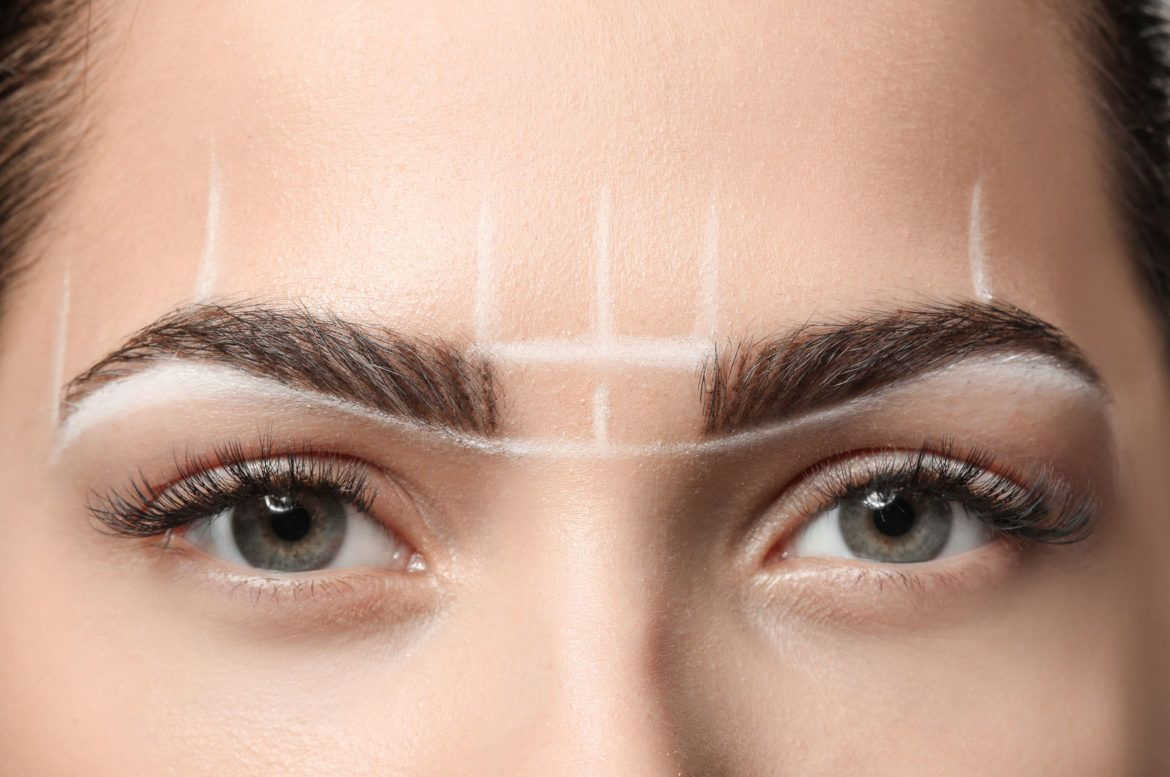 Eyebrows symmetry mapping