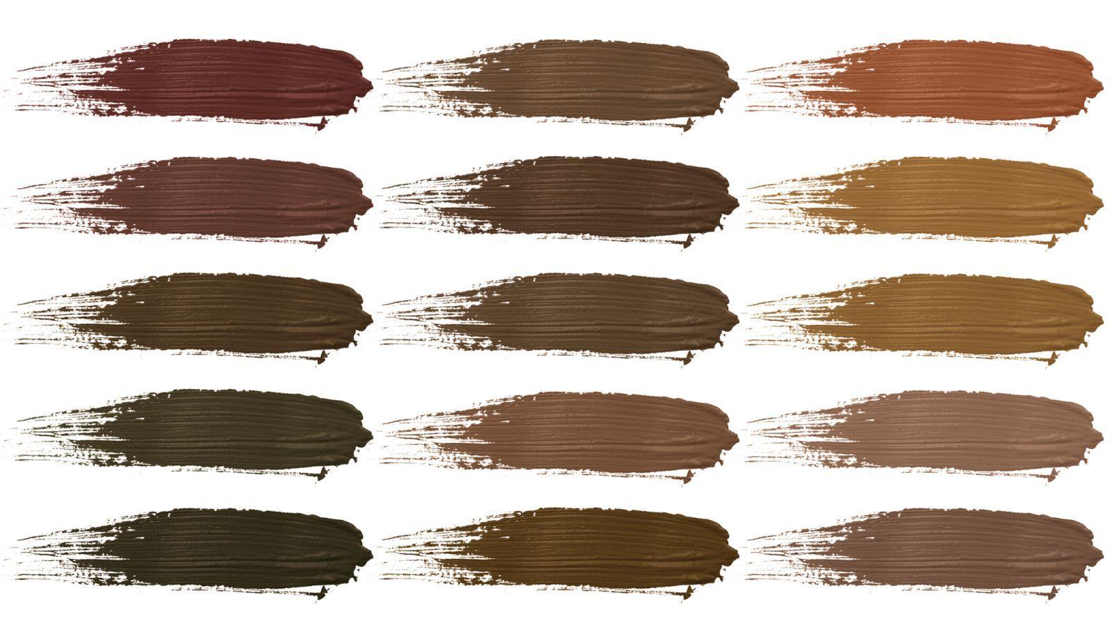 Permanent eyebrows pigment colors