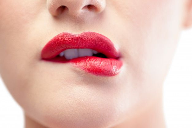 Red permanent lips color