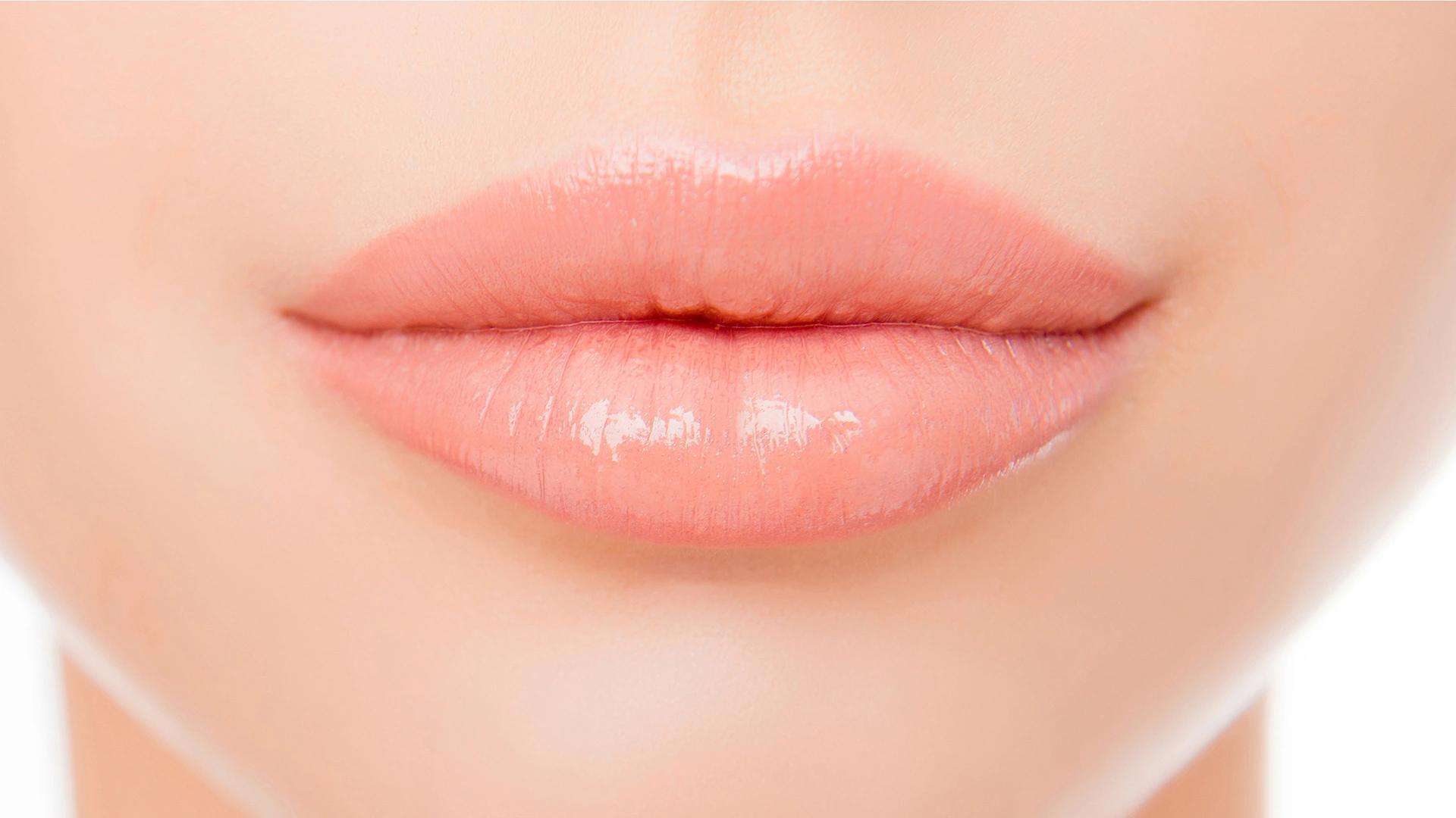 Peachy permanent lips