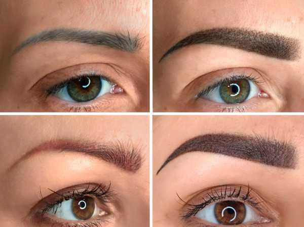 Eyebrows tattoo color correction