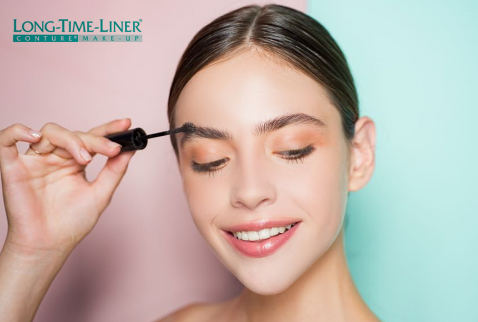 Women with permanent makeup