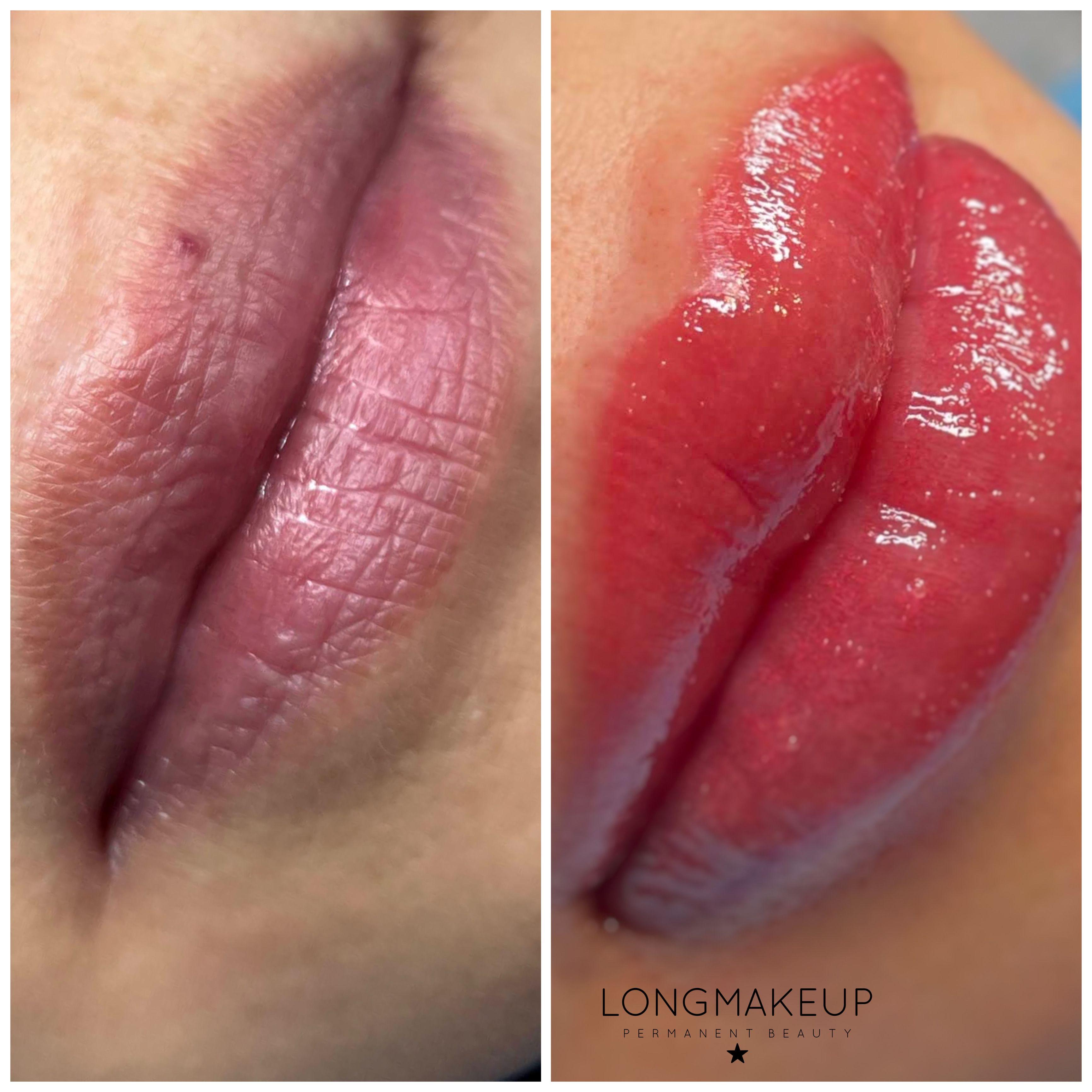 Melanin rich lip blush neutralization