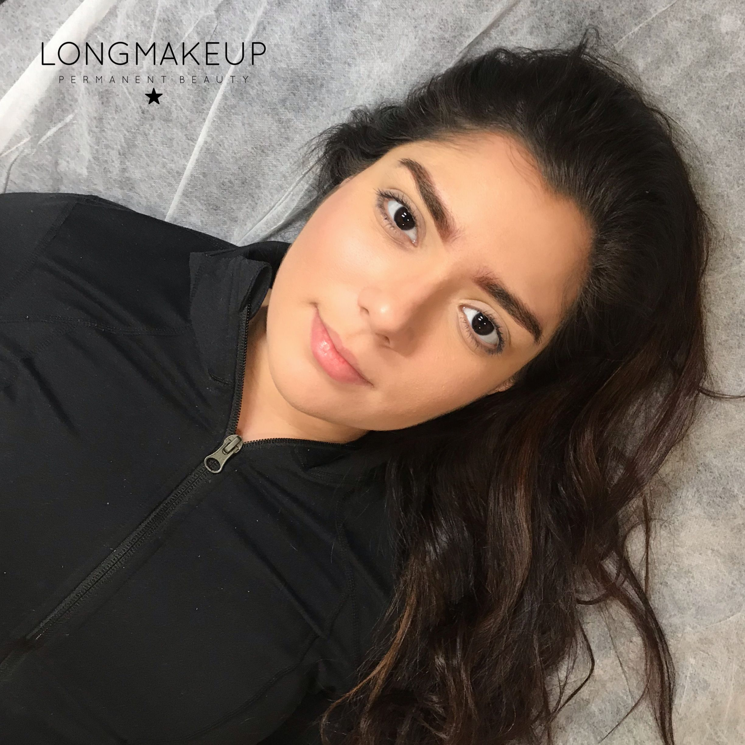 Ombre fluffy brows for brunette