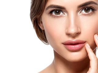 Woman with permanent makeup eyebrows microblading nyc