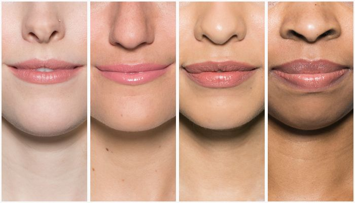 Lip blush on different skin tones