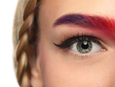 Eyebrow discoloration
