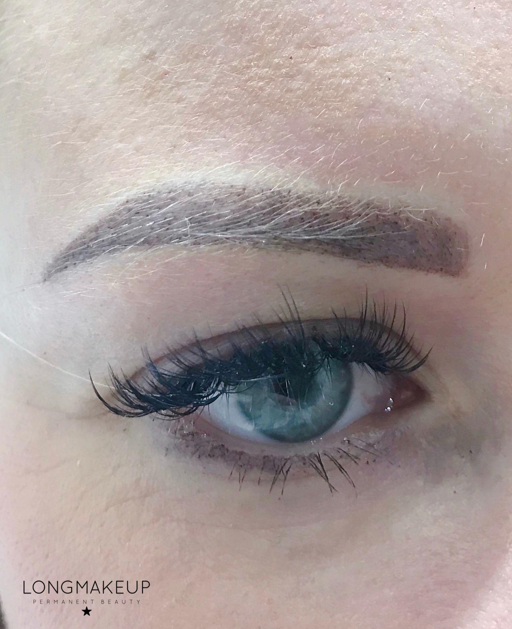 Powder eyebrow shading