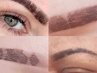 Ombre Powder Brows healing stages