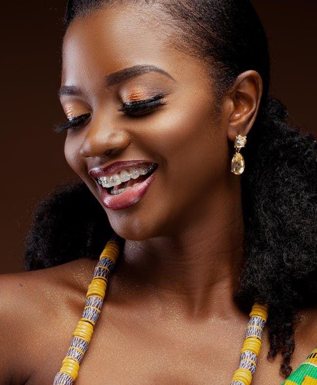 Permanent makeup on dark skin