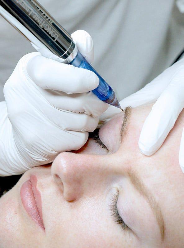 Ombre eyebrows procedure