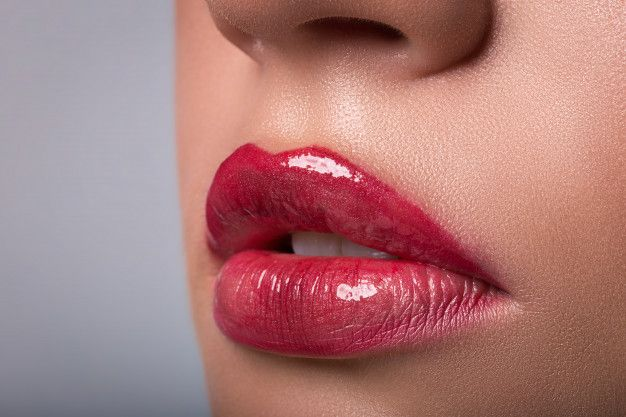 Lips color correction with lip blush tattoo