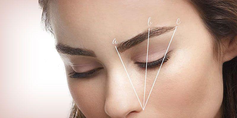 Powder eyebrows shape design