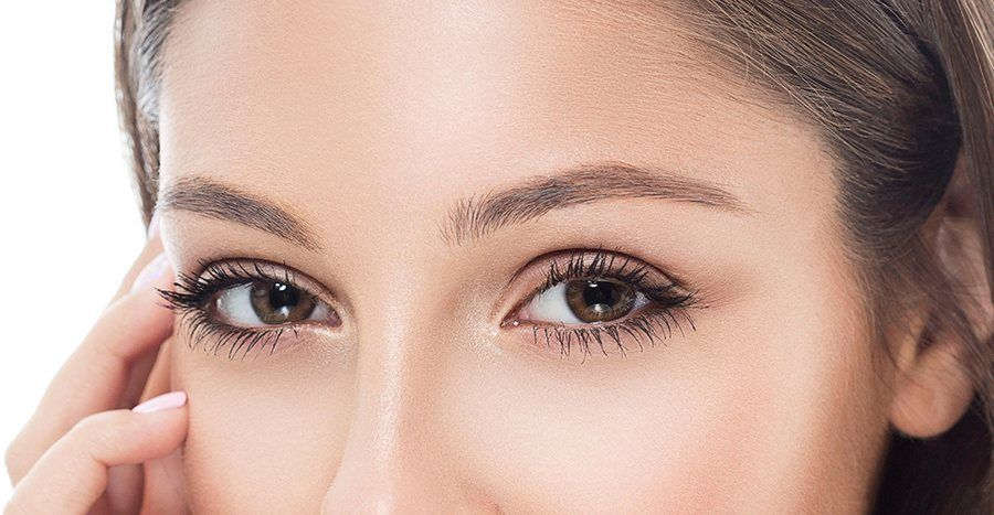 Before eyebrows microblading