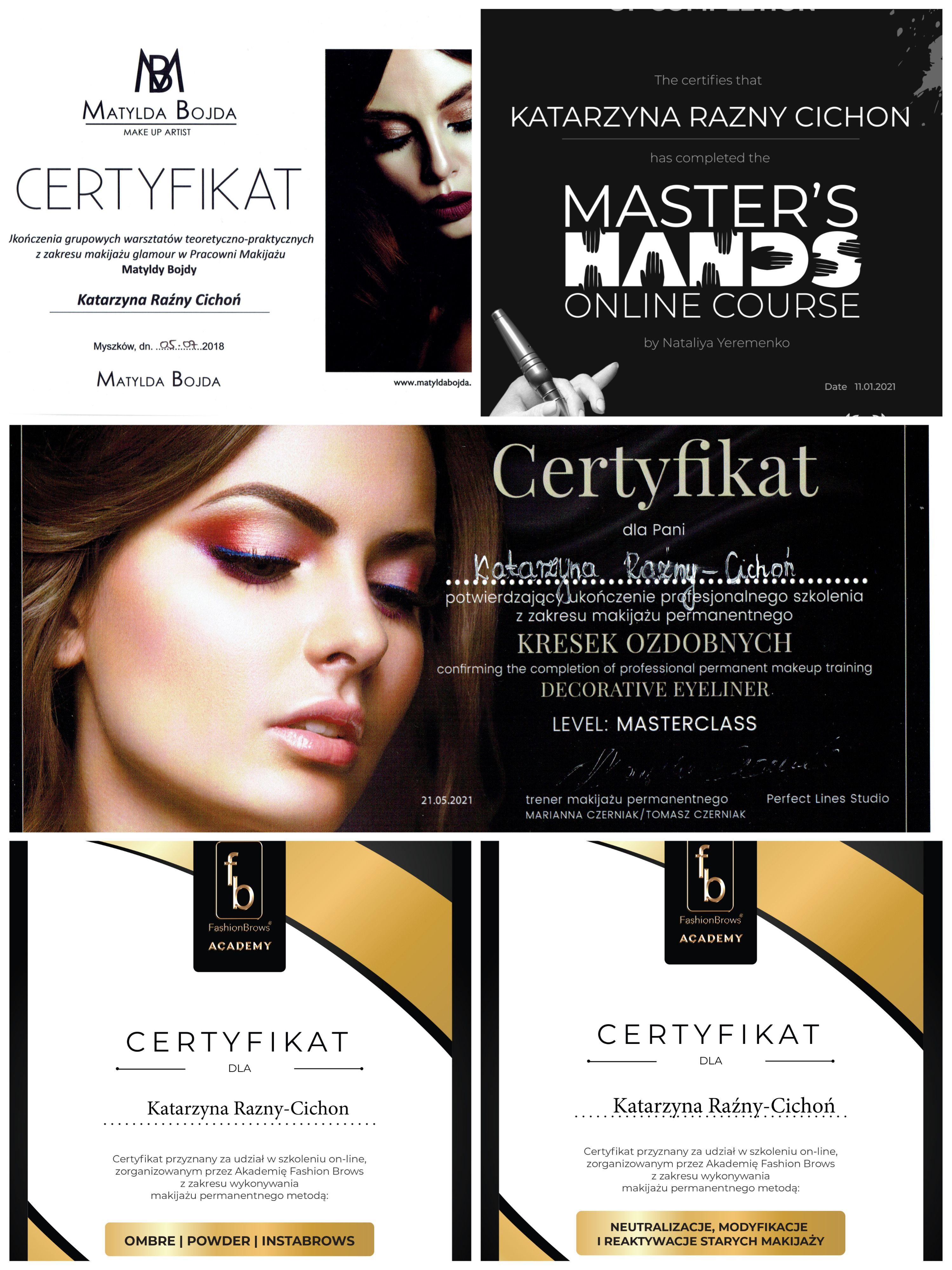 Permanent makeup artist certificates