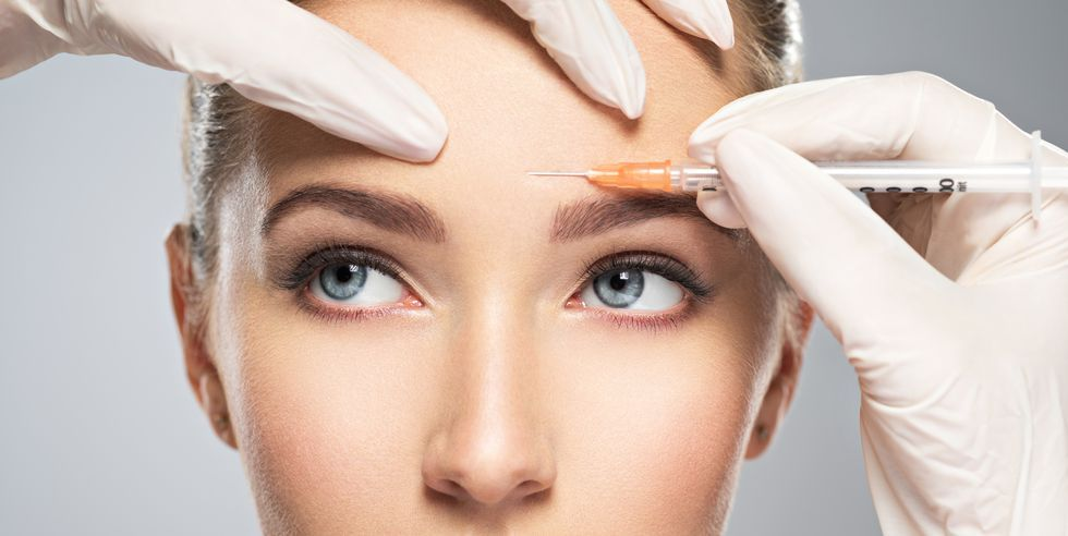 Botox injection before permanent makeup