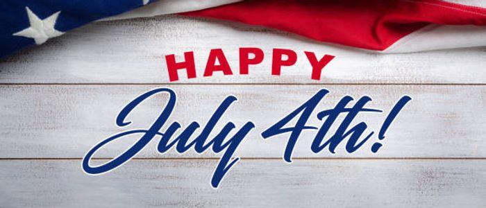 American Flag Happy July 4th