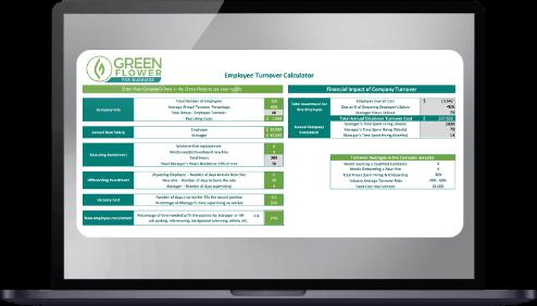 Laptop open to GreenFlower calculator