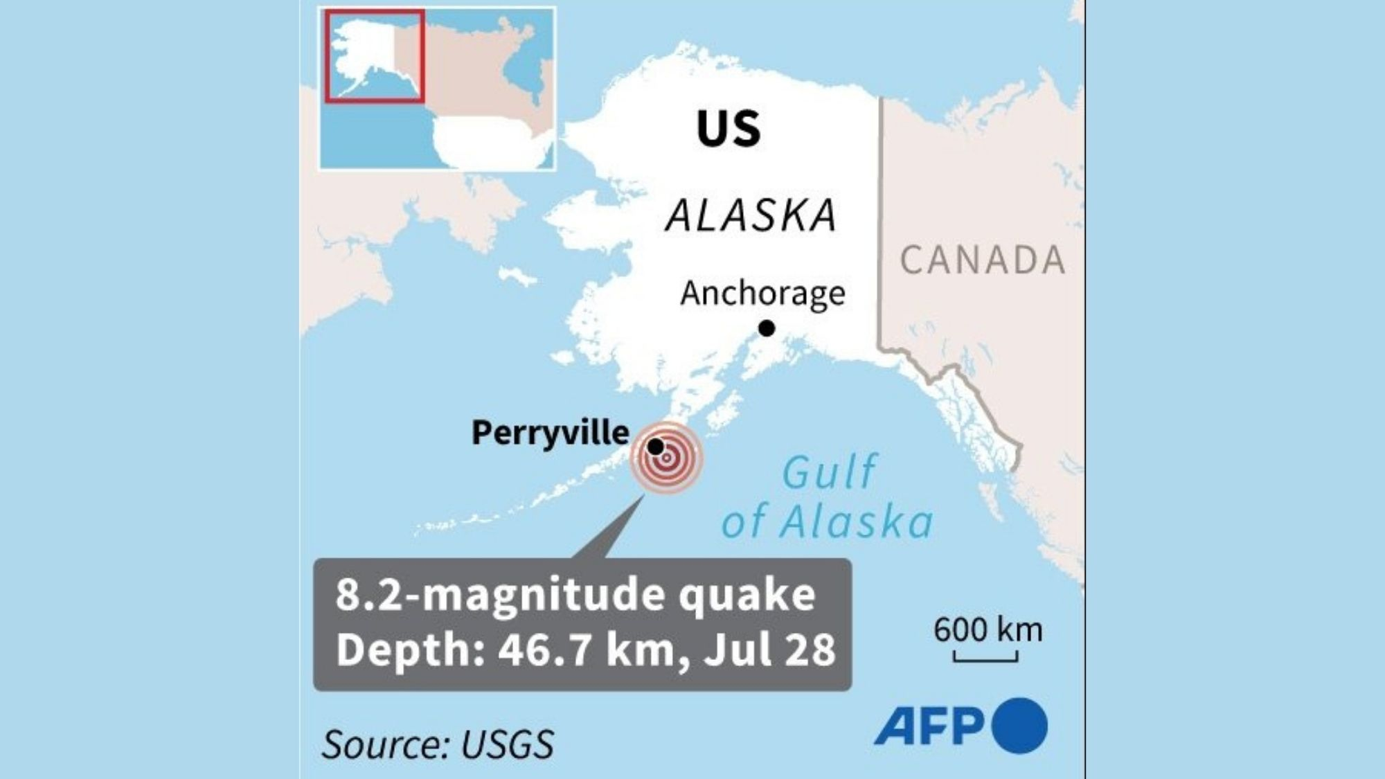 Powerful 8.2 quake hits Alaska Peninsula; triggers tsunami warnings photo from phys.org
