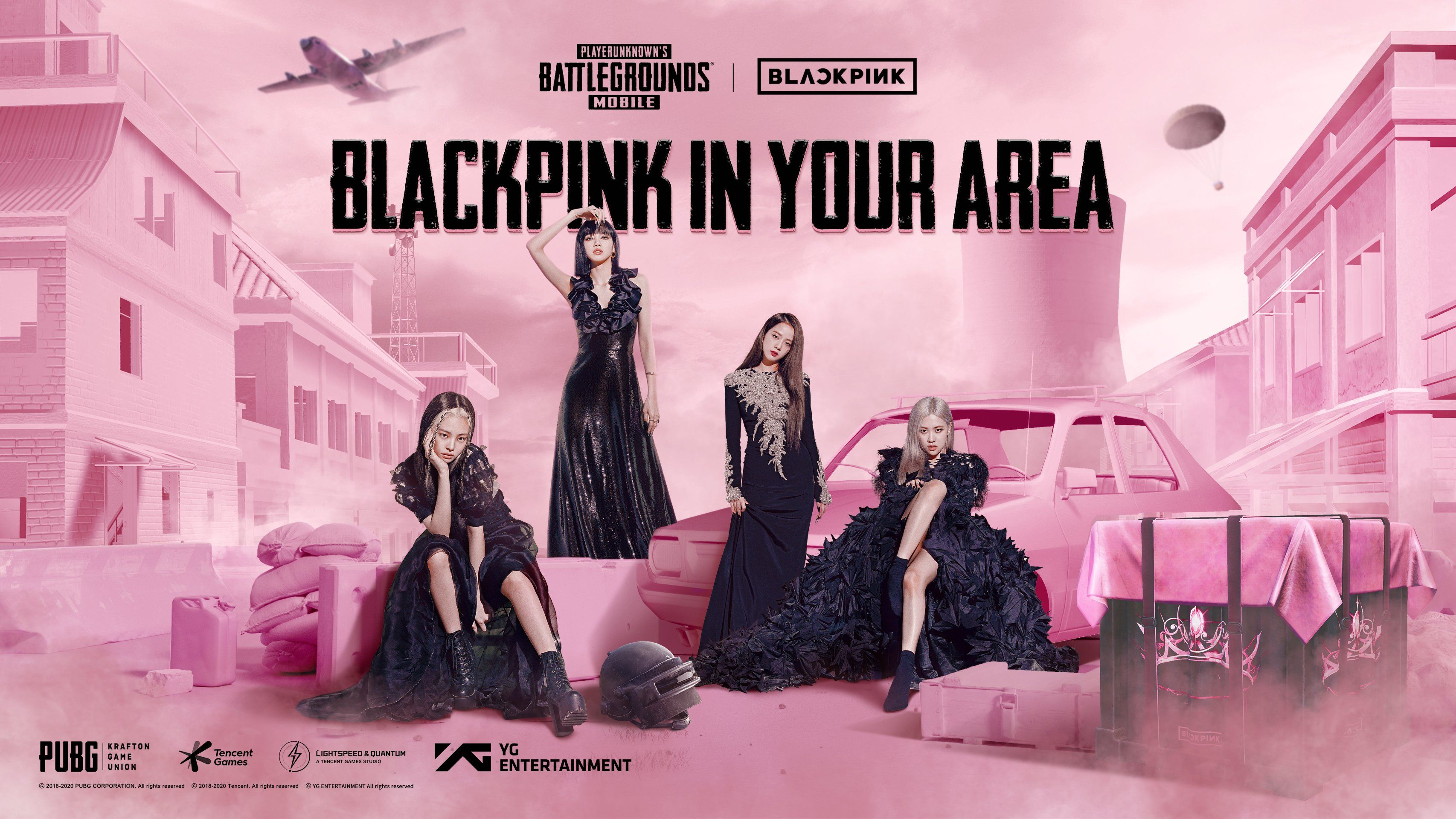 BLACKPINK crossovers to gaming land with PUBG BATTLEGROUNDS collaboration photo from @K_GEN_france