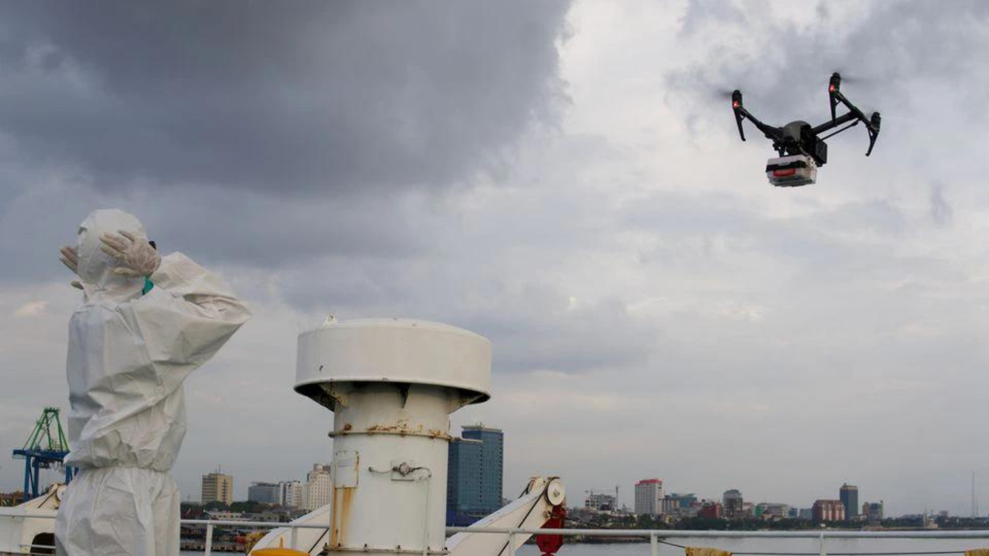 Big help; Indonesians use drones to service Covid patients at home photo from Reuters