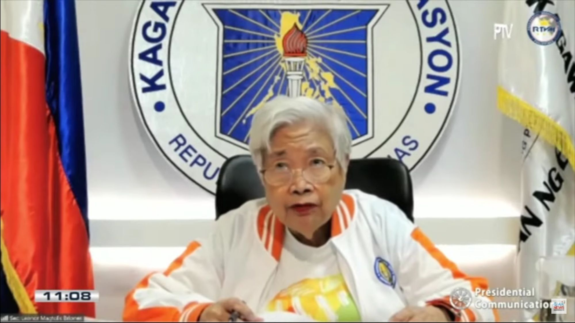 Whose fault it is Briones disses Robredo on crisis in education comments captured from GMA News, Youtube