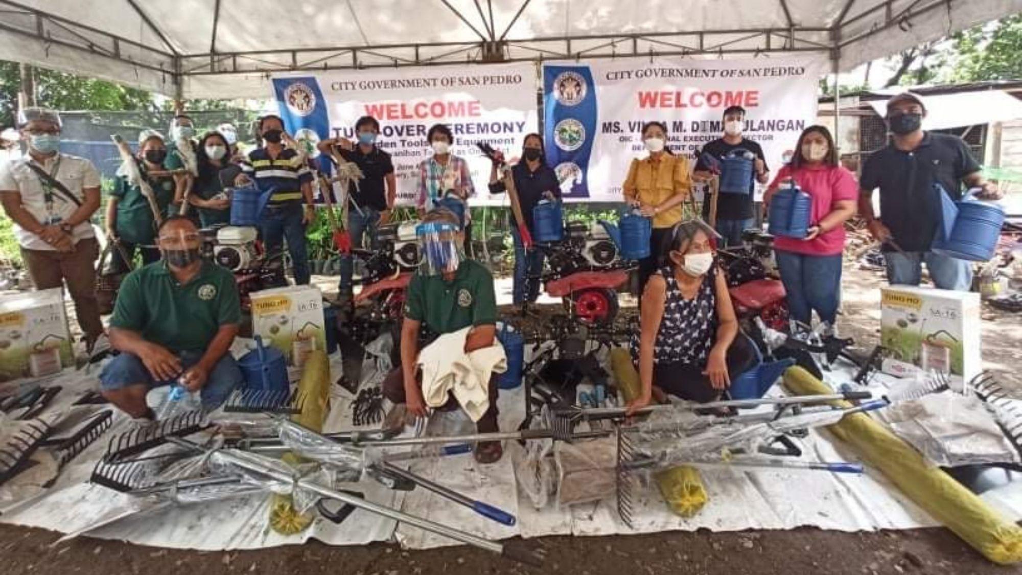 San Pedro City farmers receives P2.9-M assistance