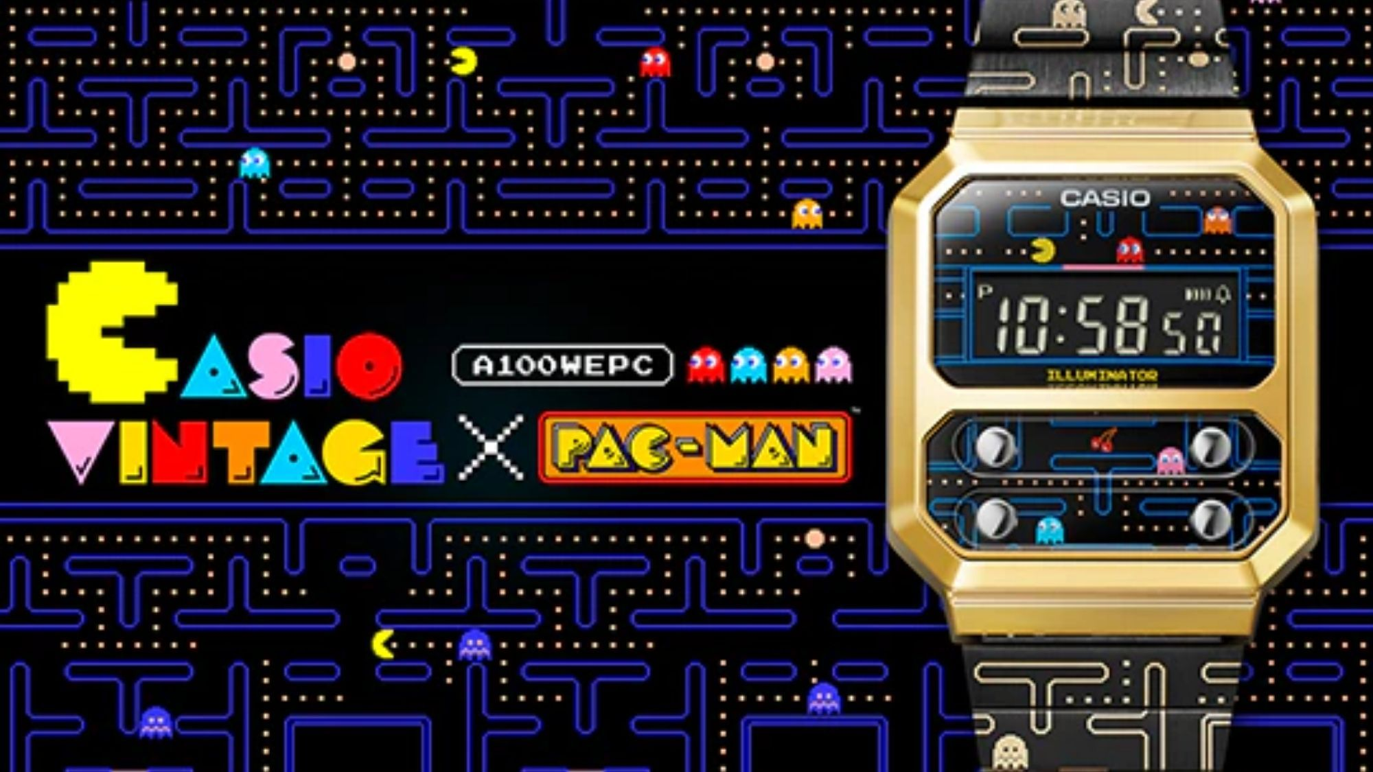 """Casio partners with Pac-Man for """"retro"""" digital watch photo from Casio"""
