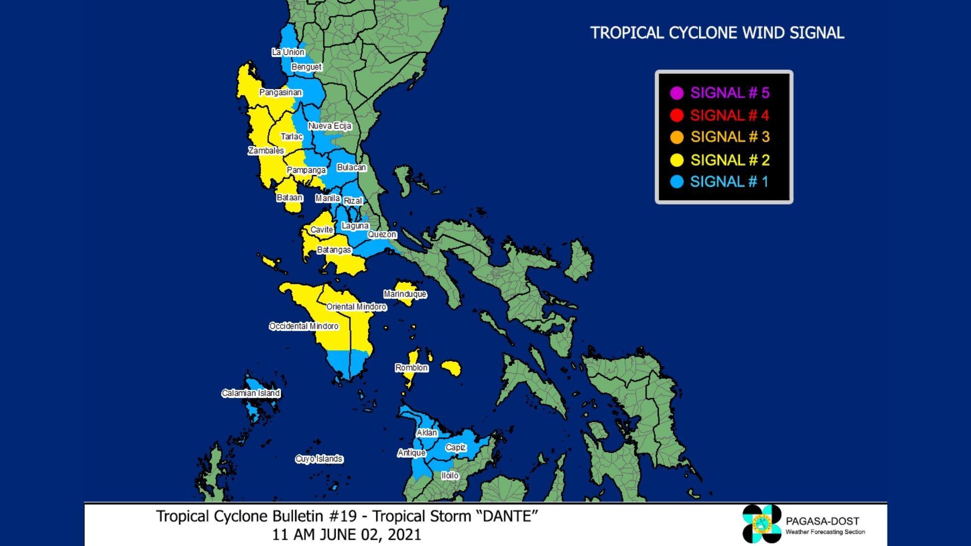 Typhoon Dante As of 11 AM photo