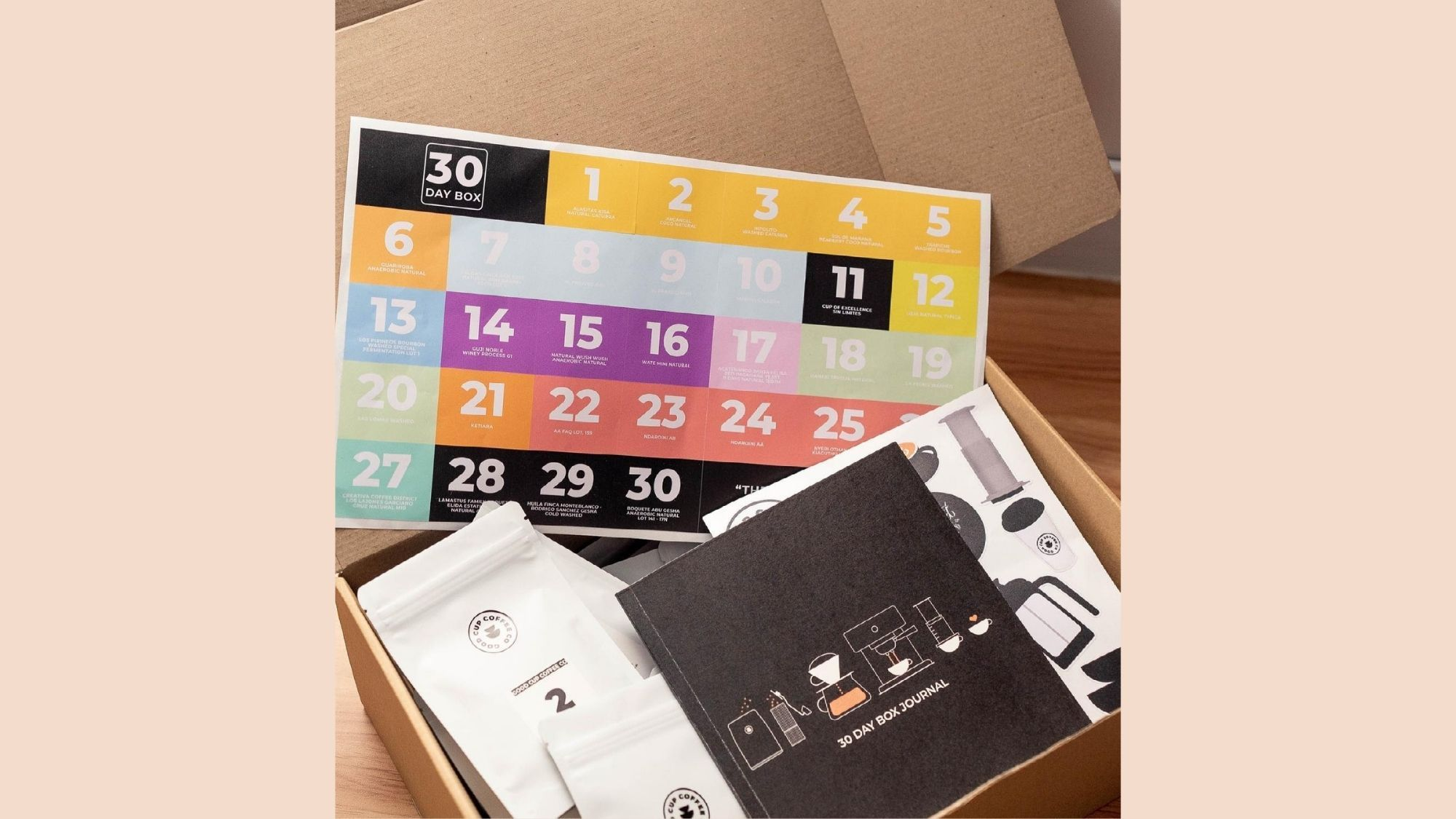 30-day-tasting box gives coffee lovers diverse tastes
