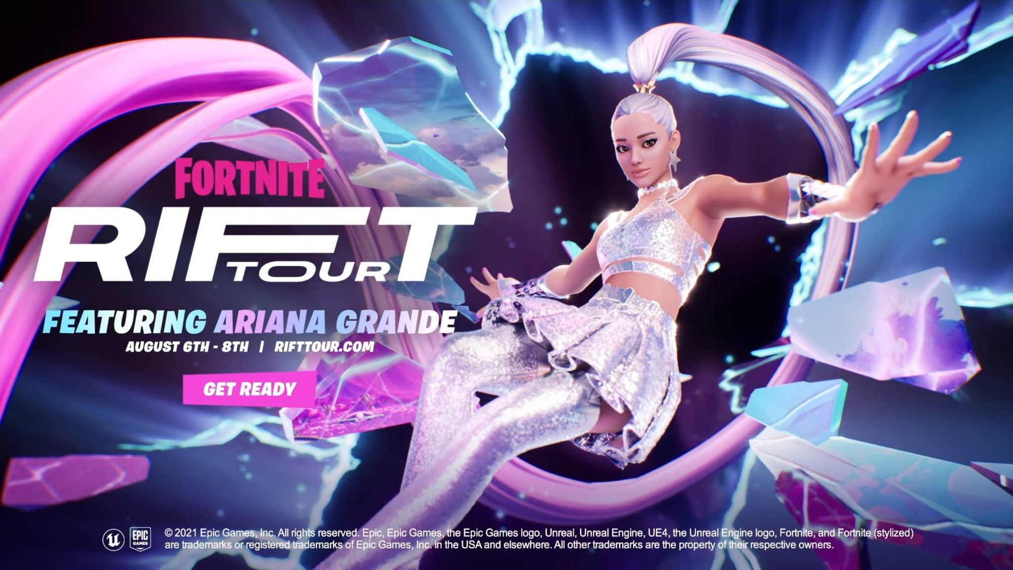 """Ariana Grande to headline """"The Rift Tour"""" for popular online game Fortnite photo by @FNChiefAko"""