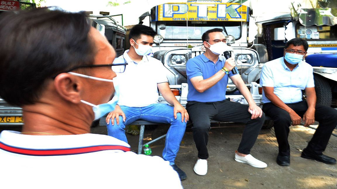 CAYETANO ASSURES AID FOR TRANSPORT DRIVERS
