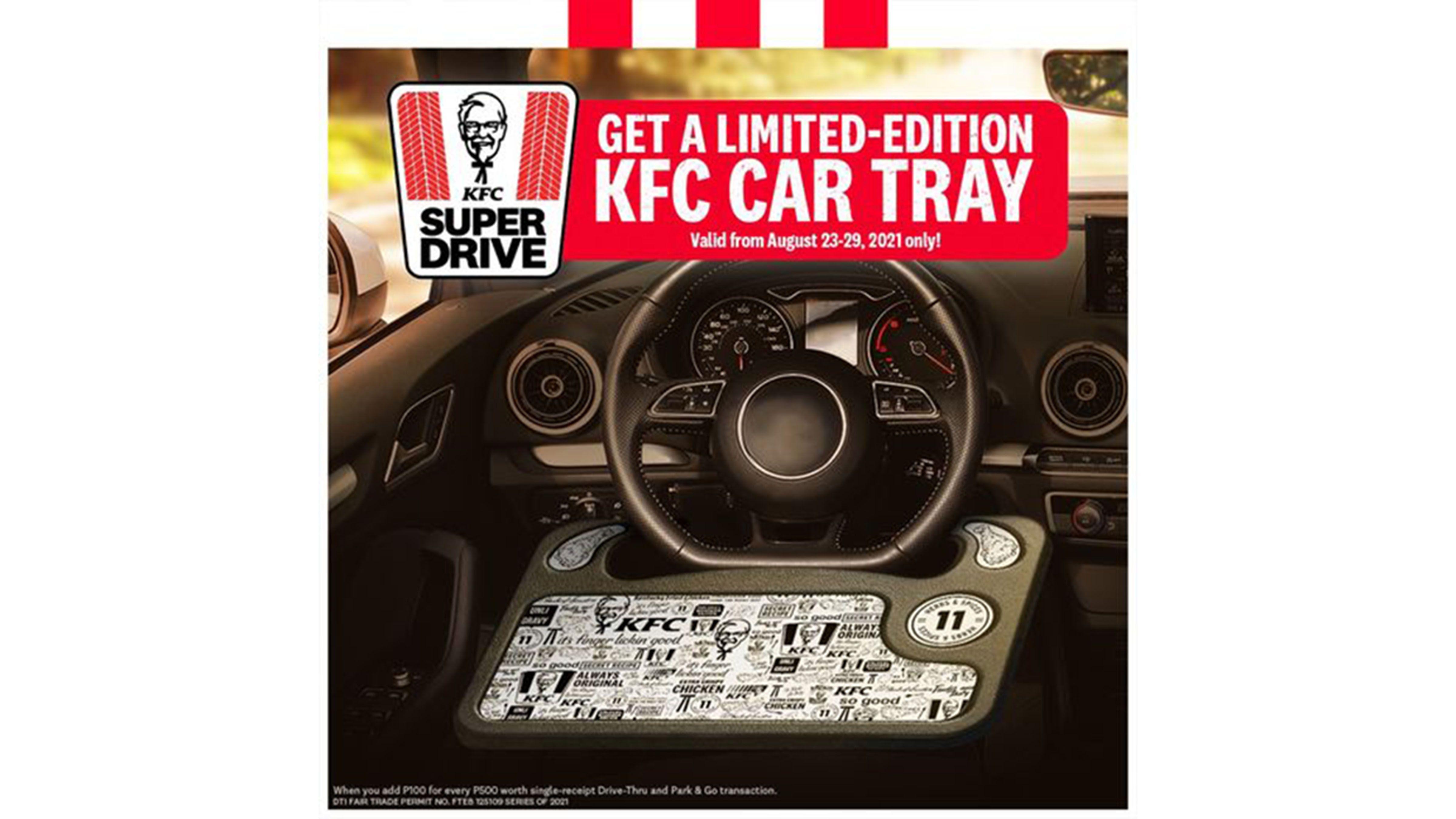 Last chance to grab car tray from KFC photo from KFC