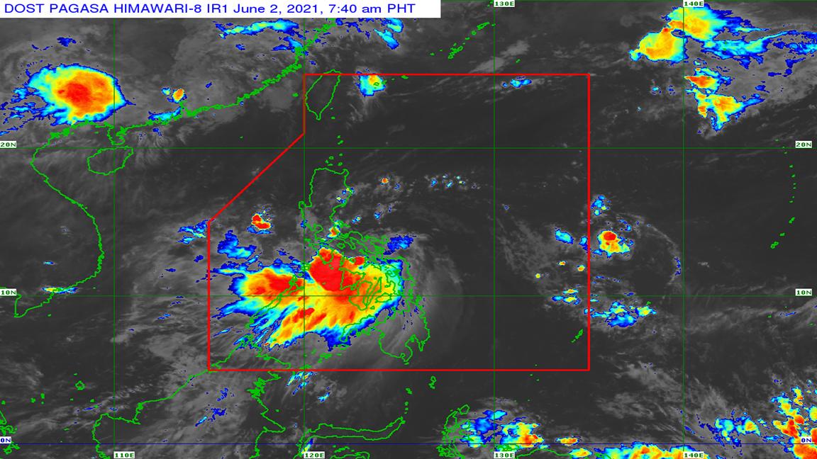 Typhoon Dante As of 740 AM (June 02, 2021)