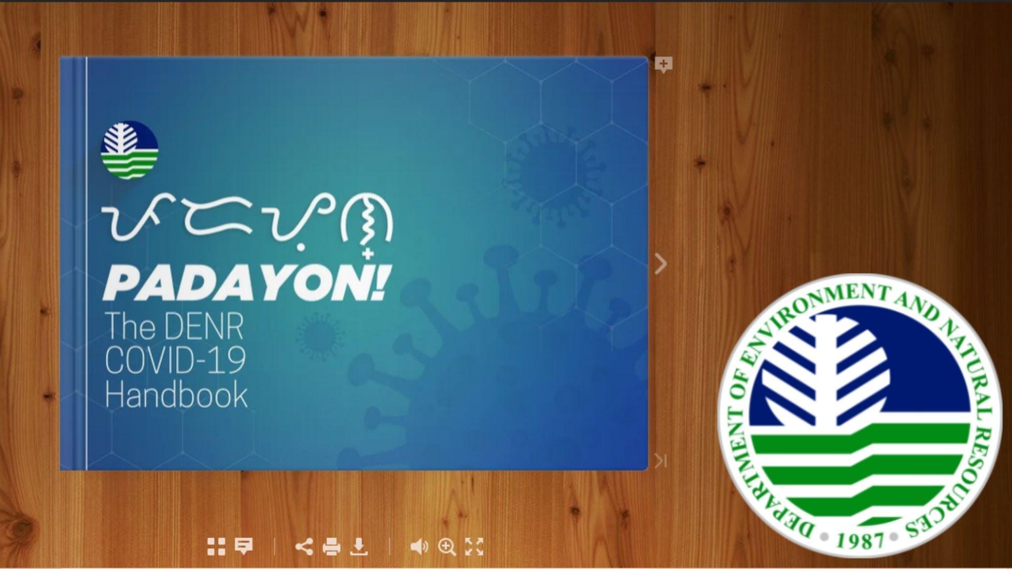 DENR launches 'Padayon' Covid-19 handbook photo DENR