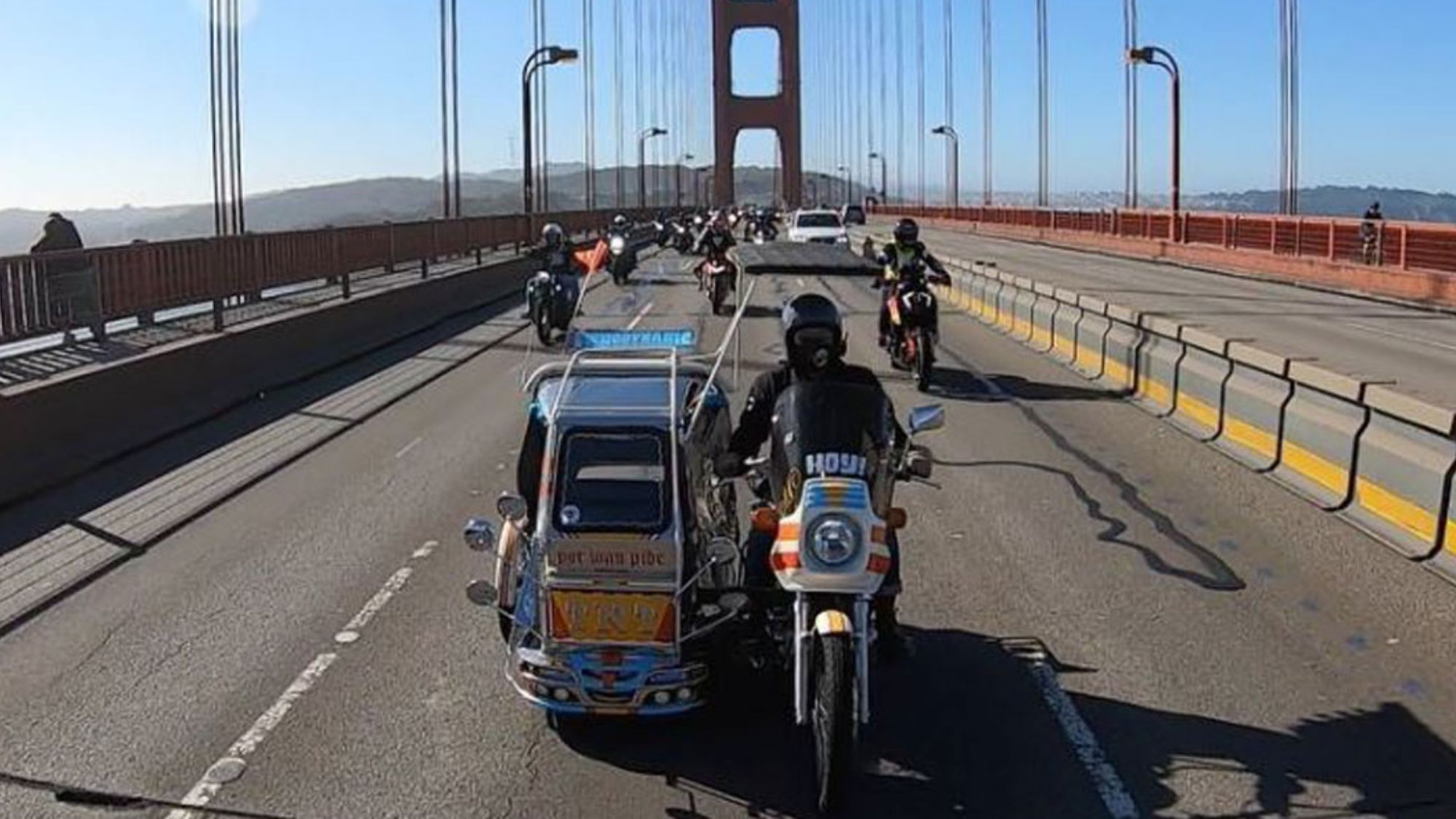 Pinoy tricycle makes historic crossing of Golden Gate Bridge
