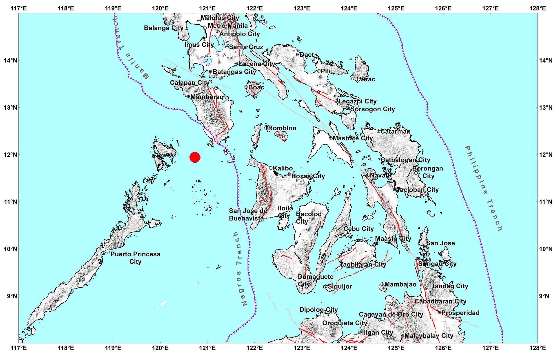 5.0 quake jolts Occidental Mindoro