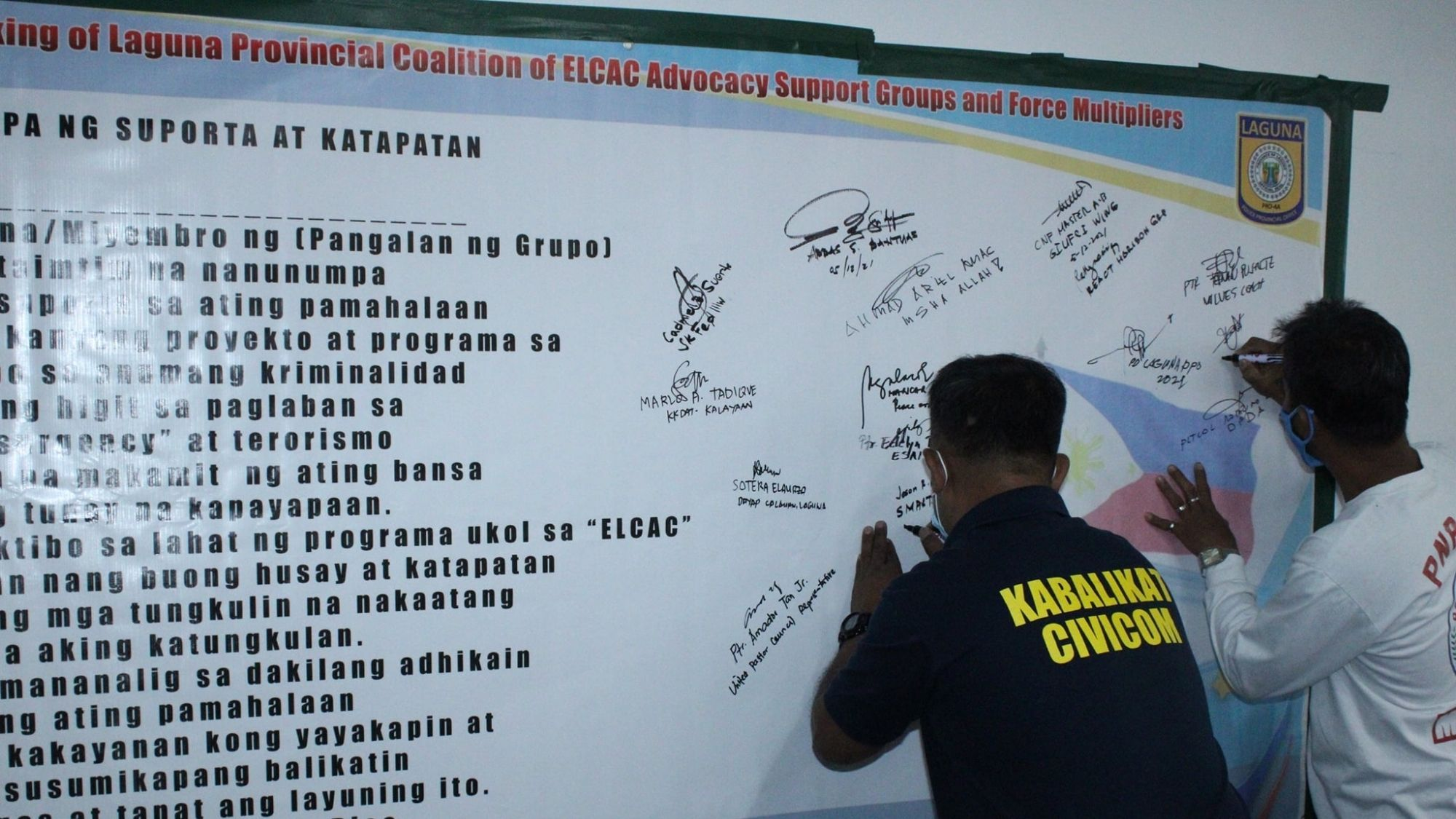 62 support groups in Laguna pledge support to NTF-ELCAC