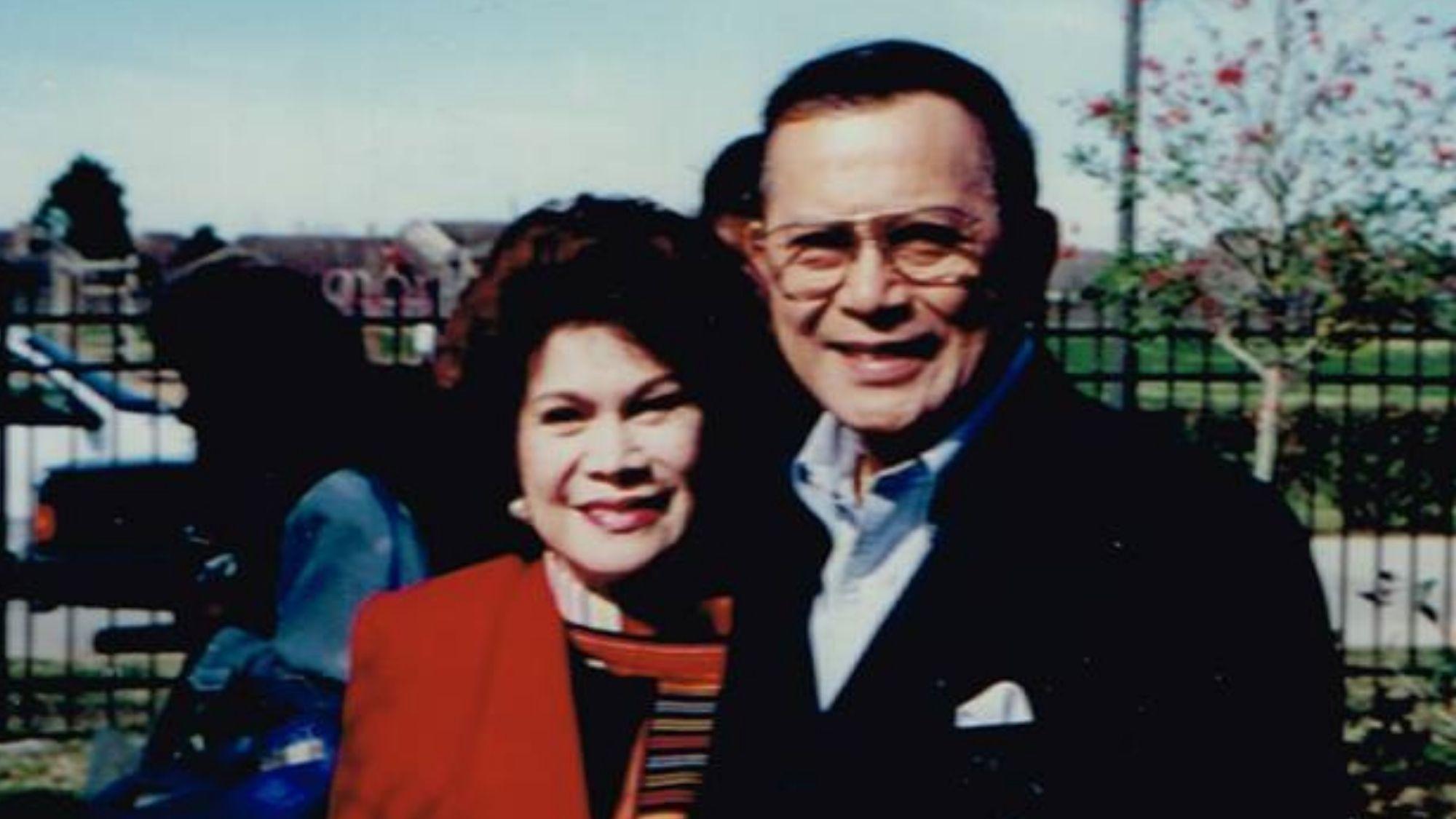 Celia Diaz-Laurel and Salvador H. Laurel