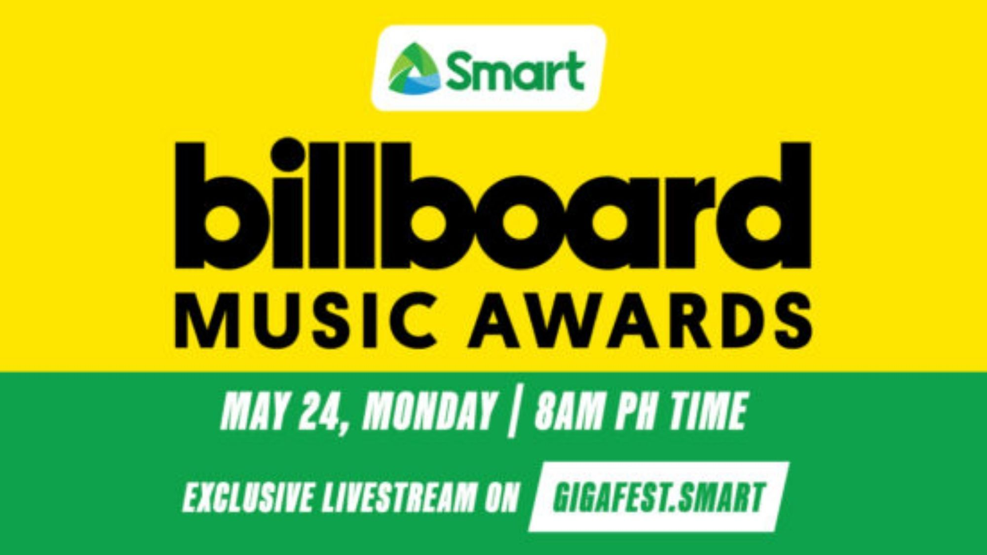 Smart to stream the 2021 Billboard Music Awards exclusively on gigafest.smart
